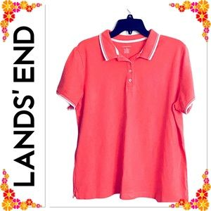 Lands' End Women's Polo Top - Size Large
